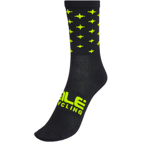 Alé Cycling Stars Q-Skin Socken 16cm Herren schwarz/gelb